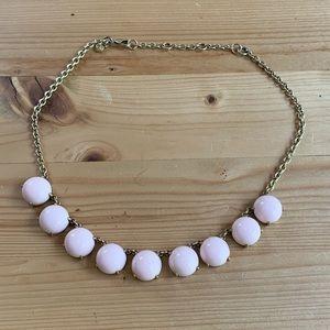 Jcrew pale pink round stone necklace